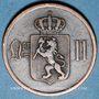 Coins Norvège. Oscar II (1872-1905). 2 öre 1884