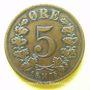 Coins Norvège. Oscar II (1872-1905). 5 öre 1875