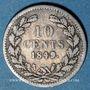 Coins Pays Bas. Guillaume II (1840-1849). 10 cents 1849. Point après la date