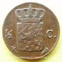 Coins Pays Bas. Guillaume III (1849-1890). 1/2 cent 1853