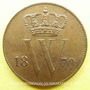 Coins Pays Bas. Guillaume III (1849-1890). 1 cent 1870