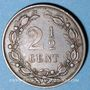Coins Pays Bas. Guillaume III (1849-1890). 2 1/2 cents 1881