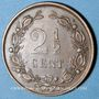 Coins Pays Bas. Guillaume III (1849-1890). 2 1/2 cents 1886