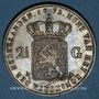 Coins Pays Bas. Guillaume III (1849-1890). 2 1/2 gulden 1872