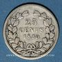 Coins Pays Bas. Guillaume III (1849-1890). 25 cents 1850