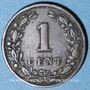 Coins Pays Bas. Wilhelmine (1890-1948). 1 cent 1899, 1er type