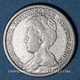 Coins Pays Bas. Wilhelmine (1890-1948). 20 cents 1911