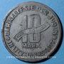 Coins Pologne. Ghetto de Lodz (Litzmannstadt). 10 pfennig 1943. Aluminium-manganèse