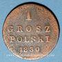 Coins Pologne. Nicolas I de Russie (1825-1855). 1 grosz 1830FH