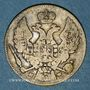 Coins Pologne. Nicolas I de Russie (1825-1855). 2 zlote - 30 kopecks 1836