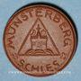 Coins Pologne. Ziebice. Münsterberg Schles. 50 pfennig. Porcelaine