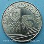 Coins Portugal. 200 escudos 1991. Colomb et le Portugal