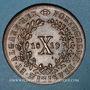 Coins Portugal. Jean VI (1816-1826). 10 (X) reis 1819