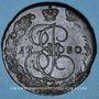 Coins Russie. Catherine II (1762-1796). 5 kopecks 1780EM. Ekaterinbourg