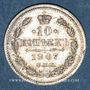 Coins Russie. Nicolas II (1894-1917). 10 kopecks 1907EB. Saint Petersbourg