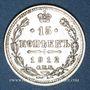 Coins Russie. Nicolas II (1894-1917). 15 kopecks 1912EB. Saint Petersbourg