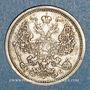Coins Russie. Nicolas II (1894-1917). 20 kopecks 1906EB. Saint Petersbourg