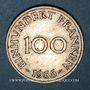 Coins Sarre. Département français (1945-1957). 100 franken 1955