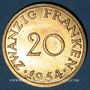 Coins Sarre. Département français (1945-1957). 20 franken 1954