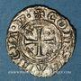 Coins Sicile. Les Suèves. Frédéric II (1197-1250), roi et Constance. Denier. Messine