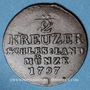 Coins Silésie. Frédéric Guillaume II (1786-1797). 1/2 kreuzer 1797B. Breslau