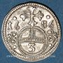 Coins Silésie. Léopold I (1657-1705). 3 pfennig 1686. Opole (Oppeln)