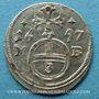 Coins Silésie. Léopold I (1657-1705). 3 pfennig 1697MB. Brieg