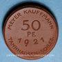 Coins Slovaquie. Jedlinka. Meyer Kauffmann. Tannhausen - Schles. 50 pfennig 1921. Porcelaine