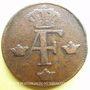 Coins Suède. Adolphe Frédéric (1751-1771). 1 öre 1763