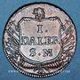 Coins Suède. Charles XII (1697-1718). 1 daler 1717