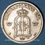 Coins Suède. Oscar II (1872-1907). 25 öre 1896EB