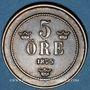 Coins Suède. Oscar II (1872-1907). 5 öre 1875