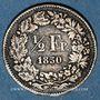 Coins Suisse. Confédération. 1/2 franc 1850A
