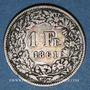 Coins Suisse. Confédération. 1 franc 1861B