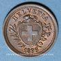 Coins Suisse. Confédération. 1 rappen 1899B