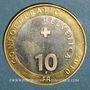 Coins Suisse. Confédération. 10 francs 2010B. Marmotte des Alpes