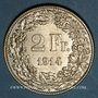 Coins Suisse. Confédération. 2 francs 1914B