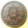Coins Suisse. Confédération. 2 rappen 1851A