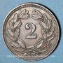 Coins Suisse. Confédération. 2 rappen 1912B