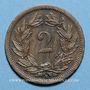 Coins Suisse. Confédération. 2 rappen 1988B