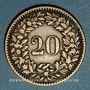 Coins Suisse. Confédération. 20 rappen 1858B