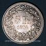 Coins Suisse. Confédération. 5 francs 1874B (point). Bruxelles