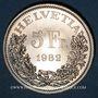 Coins Suisse. Confédération. 5 francs 1982. Le train du St Gothard