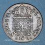 Coins Suisse. Principauté de Neuchâtel. Frédéric Guillaume II (1786-1797). 1/2 batz 1789