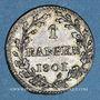 Coins Suisse. République Helvétique. 1 rappen 1801