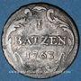 Coins Suisse. Ville de Bâle. 1 batz 1763