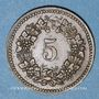 Coins Suisse. Ville de Bâle.Suisse. Allgemeine Consumverein. 5 cent