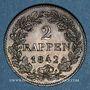 Coins Suisse. Zurich. 2 rappen 1842