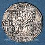 Coins Transylvanie. Stéphane Bocskai, prince (1604-1606). 3 groschen 1607 (frappe posthume)