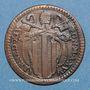 Coins Vatican. Benoît XIV (1740-1758). Quattrino 1756, an XVI